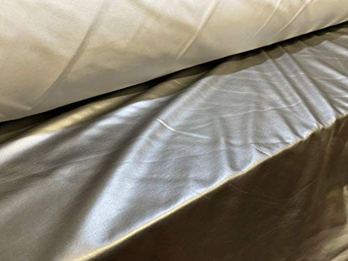 Tejido elstico de lycra metalizada, por metro, color gris metalizado