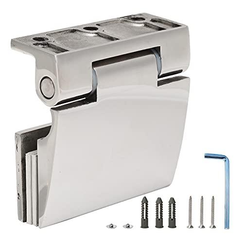 Bisagra de baño, Accesorios de Hardware Dureza Acero Inoxidable 304 para Puertas de Vidrio Templado de 8-12 mm para decoración