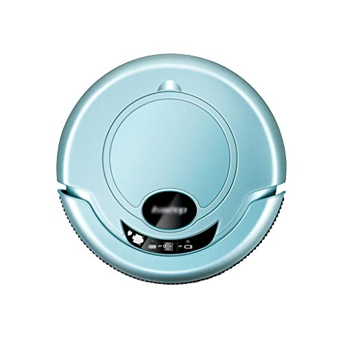 HJQFSJ Ultradünnes Roboterstaubsauger, Anti-Kollisions-Sensor, Energieeffiziente Staubsauger for Harte Böden, Fliesen, Haustier-Haar-und Teppich (Color : Blue)