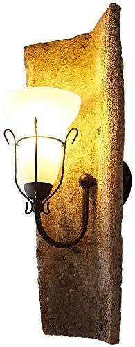 LHG Landhausleuchte Dachziegel jede ein Unikat - Wandlampe mit original Nonnenziegeln, Glas der Wandleuchte weiß matt Dekor - Leuchte mediterran E14 max.40W Dachziegelleuchte