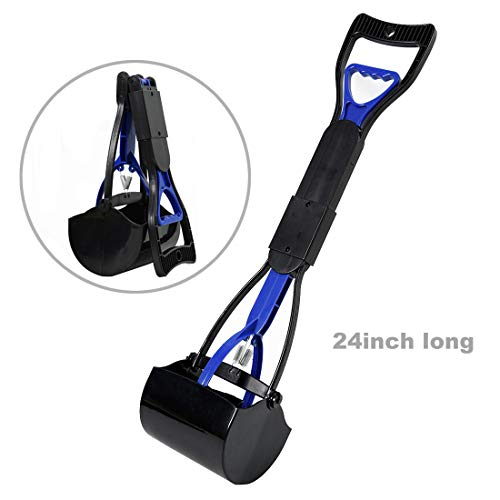 LEADALLWAY |Long Handle Poop Scooper|Folding Jaw Pooper Scoopers for Large Dogs,Ideal for...