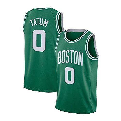 DDOYY New Celtics # 0 Jayson Tatum Jersey, Chaleco deportivo para hombre, espacioso y cómodo, S-2XL, negro, blanco, verde-verde2-XXL