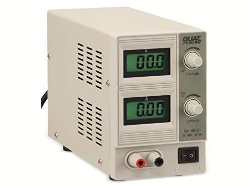 QUATPOWER Regelbares Labornetzgerät LN-1803C, 0.18 V-/0.3 A, Sicherheitstransformator