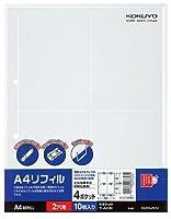 コクヨ A4リフィル 2穴 4ポケット 100枚 Japan