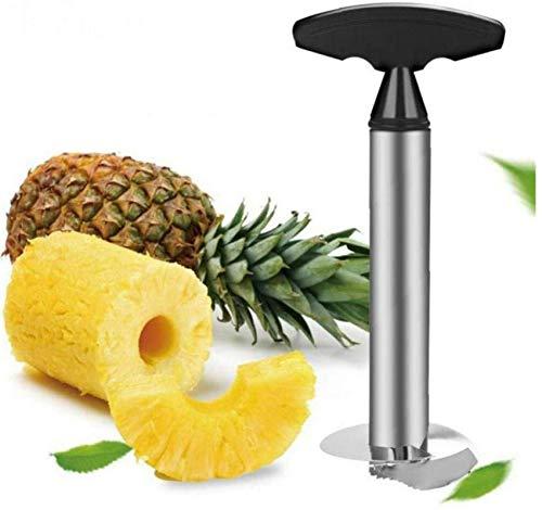 WQF Trancheuse à Ananas Coupe-Outils de Cuisine Accessoires Manuel en Acier Inoxydable éplucheur d'ananas pour Anneaux de Fruits en dés 1 pc