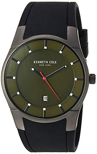 Kenneth Cole Reloj Analógico para Hombres de Cuarzo con Correa en Caucho 10031265