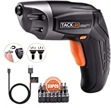 TACKLIFE Cordless Screwdriver, Electric Screwdriver Rechargeable 3.6V 2000mAh Lithium Ion Battery with 33Pcs Free Screw Bits Set,USB Charging with Two LED,SDP70DC…