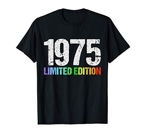 45 Años Cumpleaños Hombre Mujer Regalo Divertido 1975 Camiseta