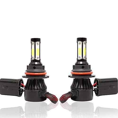 Anjing 9004/HB1, LED-lamp, vervanging voor halogeenlampen, 6500 K, 9 V-32 V, 72 W, 16000 lm, 2 stuks