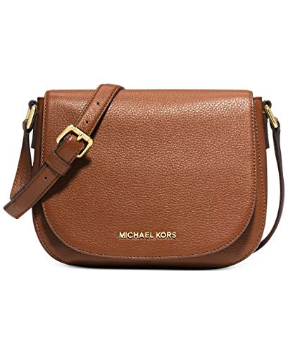 Made of Leather; Flap closure; Front flap zip pocket; Back open snap pocket; Large open compartment with zip pocket, open pocket and 1 multi-function pocket Shoulder strap of 9 inches drop; Adjustable Leather Cross-body strap of 18-24 inches drop Gol...