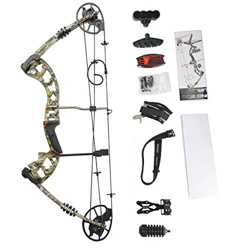 ZSHJG Complete Compound Bow Package Set 30-70lbs Adjustable Adult Compound...