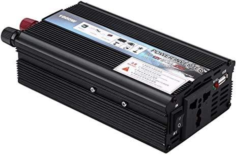 FYLJ Inversor de 1000W inversor para Cargador USB, convertidor, Potencia 12 V AC 220 V para Dispositivo de automóvil/computadora portátil/cámara/teléfono Celular, al Aire Libre