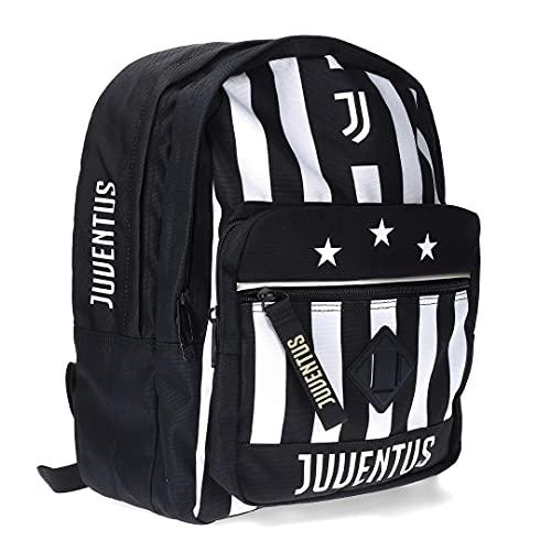 JUVE Juventus Zaino a Doppio Scomparto - Collezione Scuola 2021/2022-100% Originale - 100% Prodotto Ufficiale