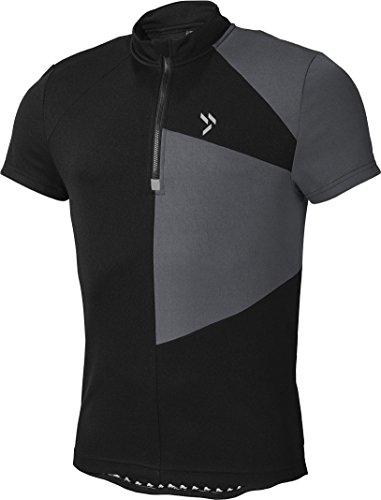 Crivit® Herren Fahrradshirt, Kurzarm (Gr. L 52/54, schwarz-grau)