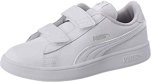 PUMA Smash V2 L V PS, Zapatillas Unisex niños, Blanco White