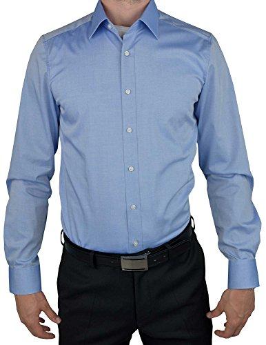 Olymp Herren Hemd Level 5 Body Fit Langarm, Stoned Blue, 40