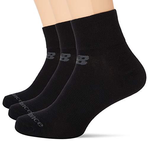 New Balance LAS95233 Calcetines Cortos Tobillo Performance Knit para Unisex Adulto, Negro, L