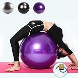 Ikaufen Balle d'exercice de Yoga Balle d'équilibre 55cm-85cm Antidérapant Épais Ballon de Fitness pour Gym Yoga Pilates, violet, 55cm