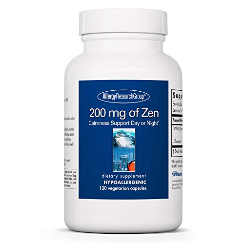 Allergy Research Group - 200 mg of Zen - Stress Relief and Sleep Support - 120 Vegetarian Capsules