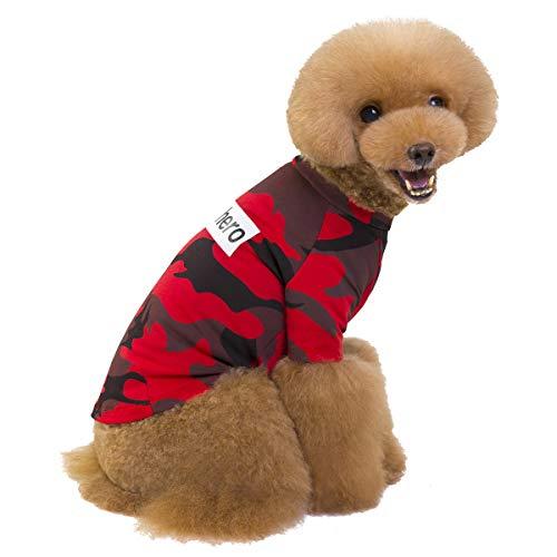 Pet Heroic Haustier Niedliches Welpen Hund Camouflage T-Shirts Sommer Hund Welpe Simples Shirt Kleidung Tarnkleidung Pink Grün Nur für Kleine Hunde Katzen Welpen - Gewicht 1.2-9.0 KG
