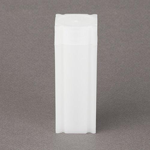 (20) Coinsafe Brand Square White Plastic (Quarter) Size Coin Storage Tube Holders
