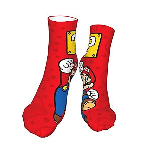 Videospiel Heroes Super Mario Socken Laufen Stoßdämpfung Feuchtigkeitstransport Atmungsaktiv Jungen Mädchen Erwachsene Unisex Kompressionsstrümpfe