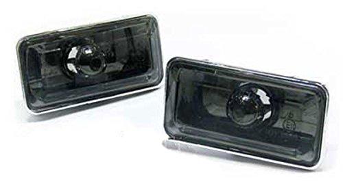 Pilotos intermitentes laterales negros ahumados (ver modelos de vehículos compatibles en la descripción) intermitencias de aletas negras ahumadas con cristal transparente klarglas