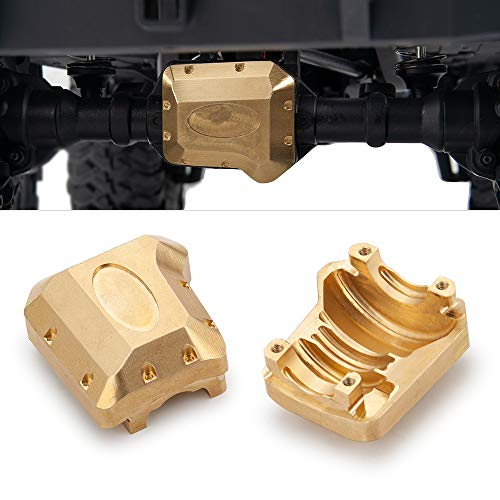 2PCS Brass Diff Cover Work on Front and Back Axel's for 1/10 Traxxas TRX-4 RC Crawler Car