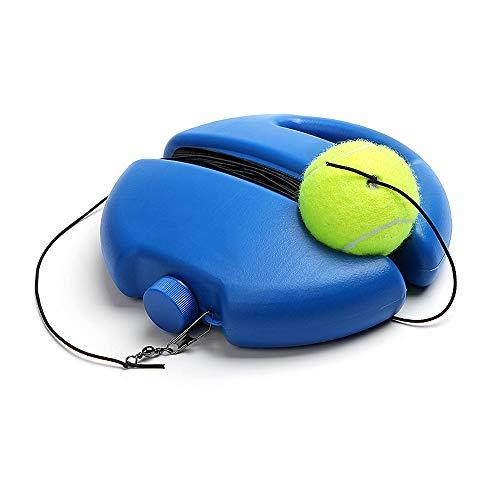Gobesty Tennis Trainer, Tennisball Trainer Tennis Trainer Rebounder Ball Tennis Baseboard mit Einem Seil und 1 Trainingsball Tennisbällen Trainingsball Praxis für Anfänger