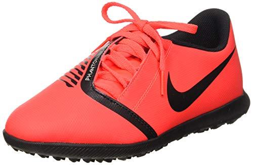 Nike Jr Phantom Venom Club TF, Botas de fútbol para Niños, Multicolor (Bright Crimson/Black-Bright Crimson 600), 38.5 EU