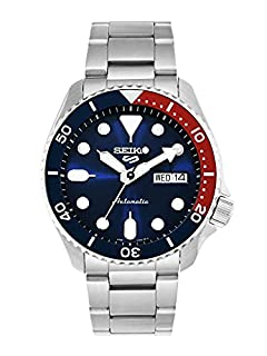 Seiko 5 Sports Men's Automatic Watch Blue Dial Red and Blue Pepsi Bezel Analog Display and Stainless Steel Strap, SRPD53K (B07WGMD9ND) | Amazon price tracker / tracking, Amazon price history charts, Amazon price watches, Amazon price drop alerts