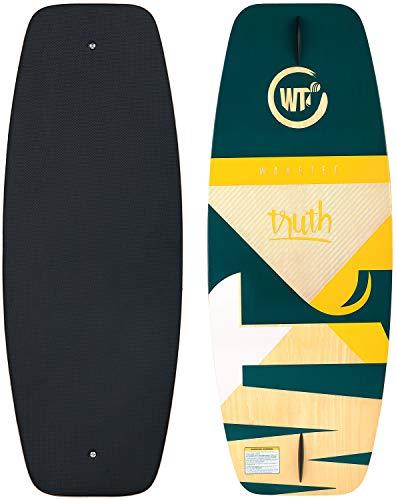 WAKETEC Wakeskate Truth 41\'\', Eva Flat-Deck Board, Länge 105 cm, bis 80 kg Körpergewicht, blau grün gelb