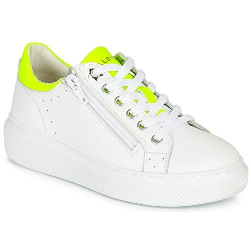 BULLBOXER NYLAN Sneakers meisjes Wit/Geel Lage sneakers