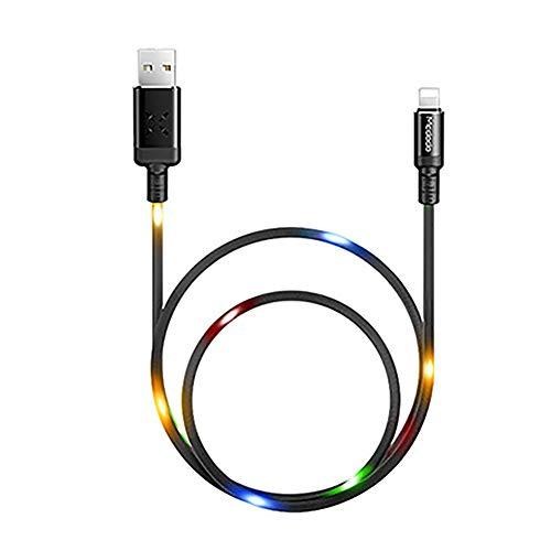 Saska LED Controlado por Voz LED Cable Capa DE Carga RÁPIDA DJ Streamer Micro USB Cables De Datos De Automóviles Creativos Teléfono Portátil Cable De Carga,Gris,Android 1m