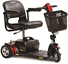Pride Go-Go Elite Traveller Plus 3-Wheel Travel Scooter w/ Avail Ext Warr