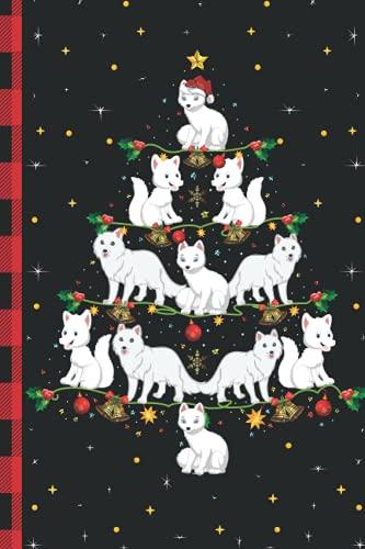 Arctic Fox Christmas Tree Composition Notebook: Arctic Fox Lover Xmas Lighting Journal - Christmas Tree Decoration Journal Notebook For Men, Women, Girls, Kids