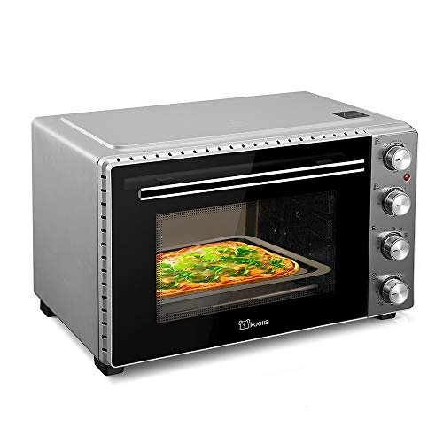 Mini Oven | 35 Lliters |Toaster Oven | Electric Oven | Oven | Small Oven | Double Glass Door | Removable Crumb Tray | Interior Lighting | 3D Recirculation | 1700 Watts