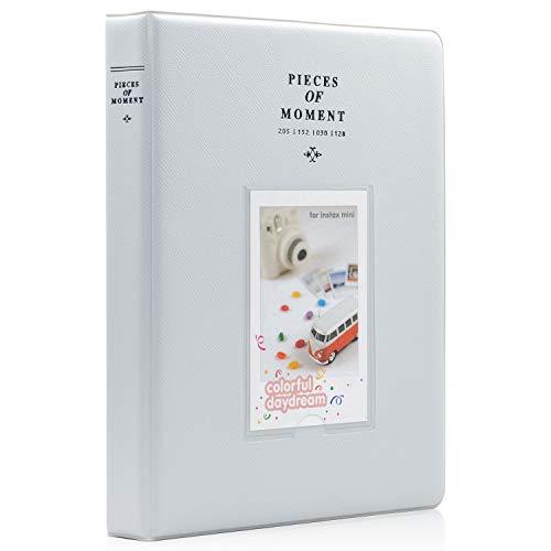 Price comparison product image Ablus 128 Pockets Mini Photo Album for Fujifilm Instax Mini 7s 8 8+ 9 25 26 50s 70 90 Instant Camera & Name Card (Smokey White)
