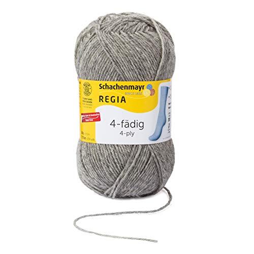 REGIA 4-fädig Uni 9801276-00033 flanell streaked Handstrickgarn, Sockengarn, 50g Knäuel