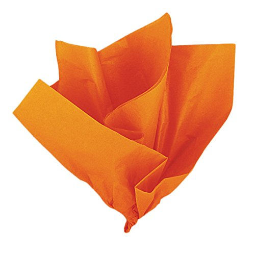 Unique Party-Paquete de 10 hojas de papel de seda, color naranja, (6292)