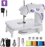 CABINA HOME Máquina de coser mini eléctrica con mesa de extensión, pedal de pie, máquina de coser portátil, máquina de coser de mano rápida y manejable con accesorios