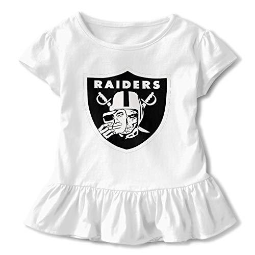 ZJLANS Las-Ve-Gas Skull Logo Girls 2-6t Toddler Baby Girl Summer T-Shirt White