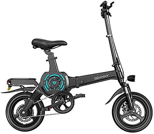 Bicicleta eléctrica de nieve, E-bicicletas, neumáticos de 14 pulgadas portátil plegable bicicleta eléctrica for los adultos con 400W 10-25 Ah Batería de litio, Ciudad de bicicletas Velocidad máxima 25