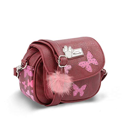 KARACTERMANIA Minnie Mouse Marfly-bolso Sugar Borsa Messenger, 18 cm, Rosso (Marfly)