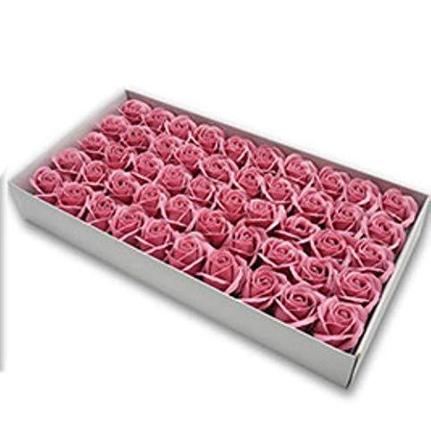 50st Diameter 4,5 cm goedkope zeep Rose Head schoonheid bruiloft Valentijnsdag geschenk Bruidsboeket Woondecoratie Hand Flower Art, 016