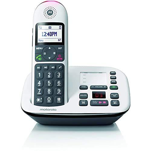 Motorola CD5011 - Telefono cordless digitale DECT con segreteria telefonica, blocco chiamate e risposta del volume - Schermo grafico da 1,8'