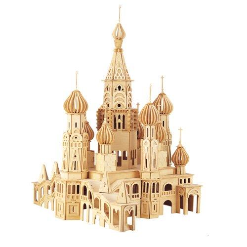 Etna Iława St. Petersburg Kirche 3D Holzbausatz Holzpuzzle Sankt Russland Steckpuzzle Bauwerk DH006