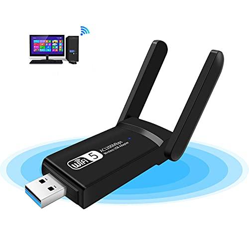 KagoLing Adattatore USB Wireless Dongle, 1200Mbps WiFi ad Alta velocità WiFi Dual Band 2.4G/5G USB 3.0 WiFi Stick Mini Scheda di Rete per PC/Desktop/Tablet/Laptop, Supporto Windows, Linux, Mac OS X