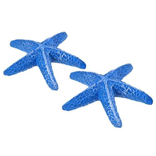 Balacoo 2 Piezas Artificiales de Resina de Estrella de mar para Acuario, pecera, decoración de jardín