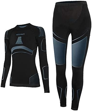 Thermal Underwear for Women Long Johns for Women Base Layer Women Cold Weather Black Grey product image
